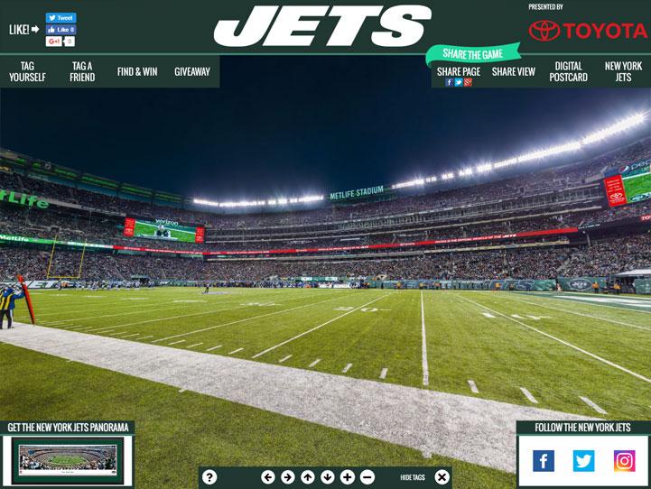 New York Jets 360° Gigapixel Fan Photo