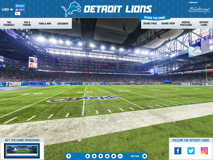 Detroit Lions 360° Gigapixel Fan Photo