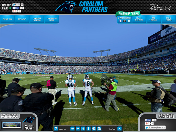 Carolina Panthers 360° Gigapixel Fan Photo