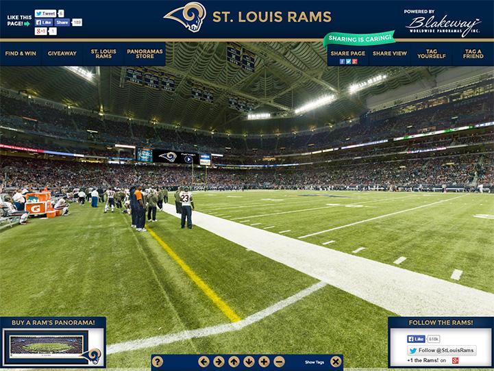 St. Louis Rams 360° Gigapixel Fan Photo