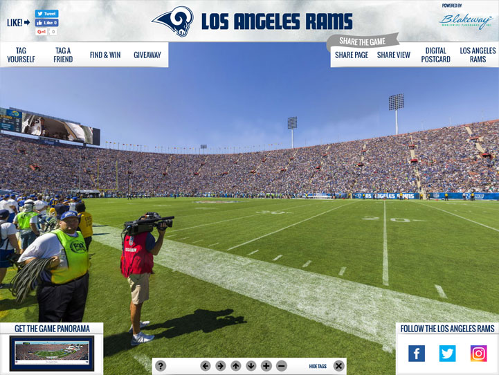 Los Angeles Rams 360° Gigapixel Fan Photo