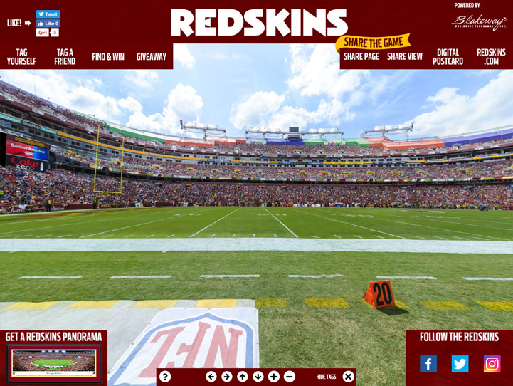Washington Redskins 360° Gigapixel Fan Photo