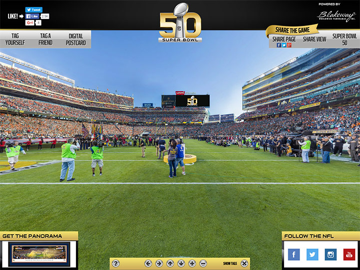 Super Bowl 50 360° Gigapixel Fan Photo