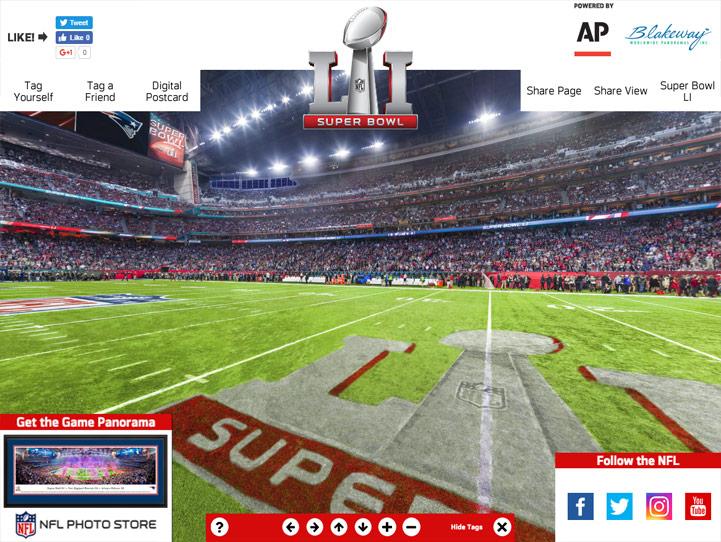2017 Super Bowl LI 360° Gigapixel Fan Photo