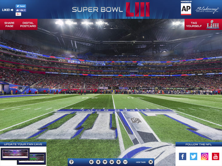 Super Bowl LIII 360 Gigapixel Fan Photo