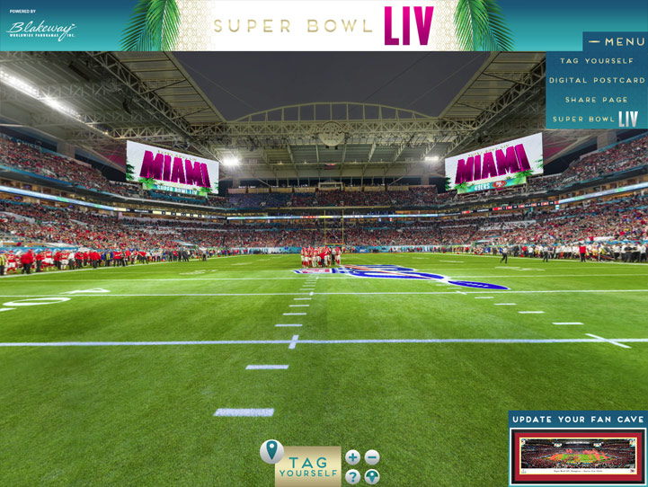 2020 Super Bowl LIV 360° Gigapixel Fan Photo