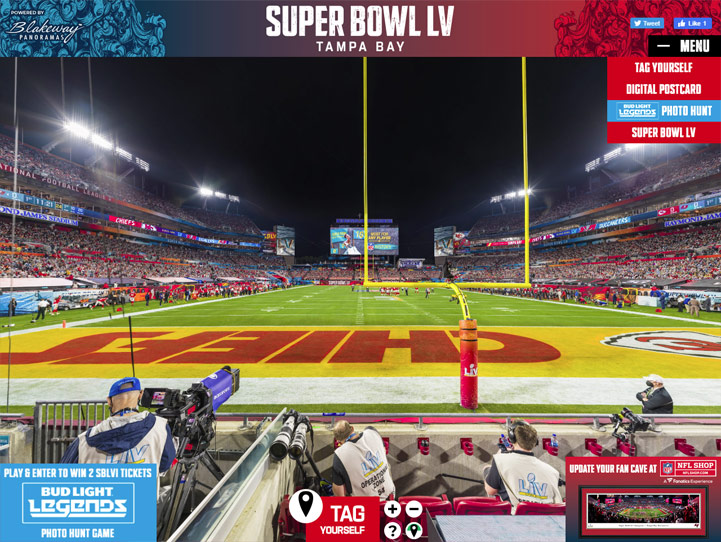 2021 Super Bowl 360 Gigapixel Fan Photo