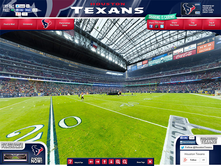 Houston Texans 360° Gigapixel Fan Photo