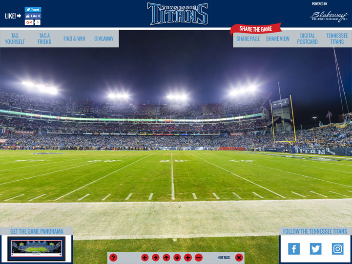 Tennessee Titans 360° Gigapixel Fan Photo