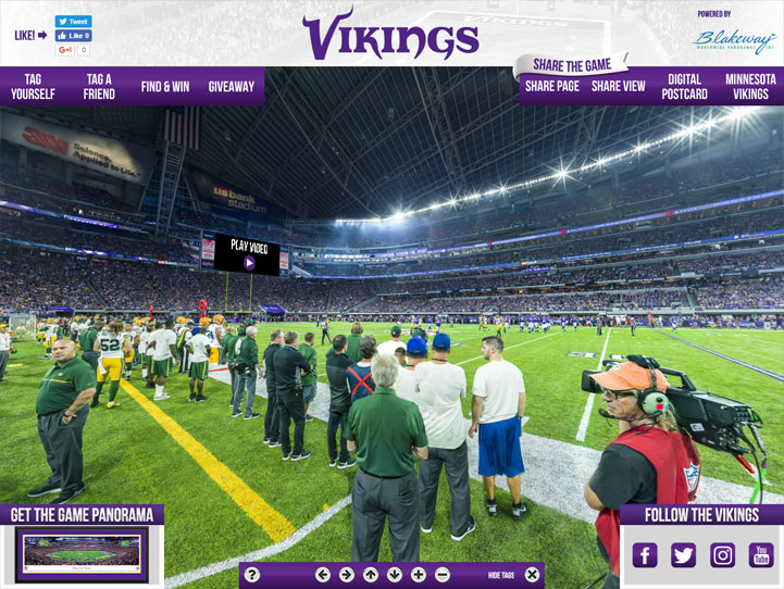Minnesota Vikings 360° Gigapixel Fan Photo