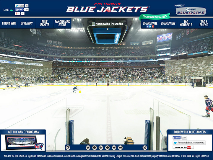 Columbus Blue Jackets 360° Gigapixel Fan Photo