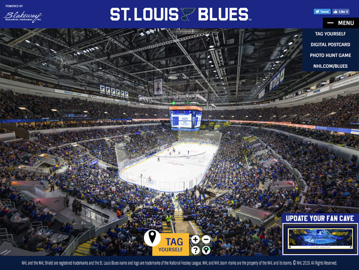 St. Louis Blues 360° Gigapixel Fan Photo