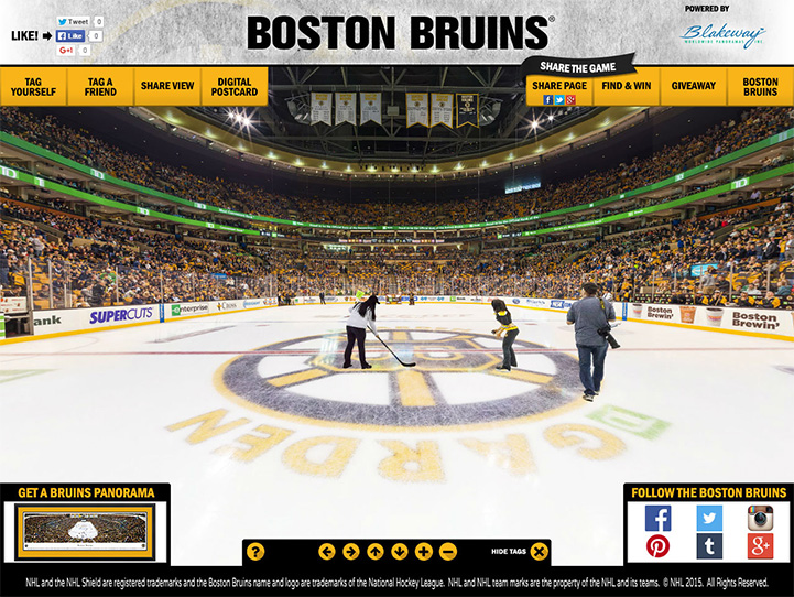 Boston Bruins 360° Gigapixel Fan Photo