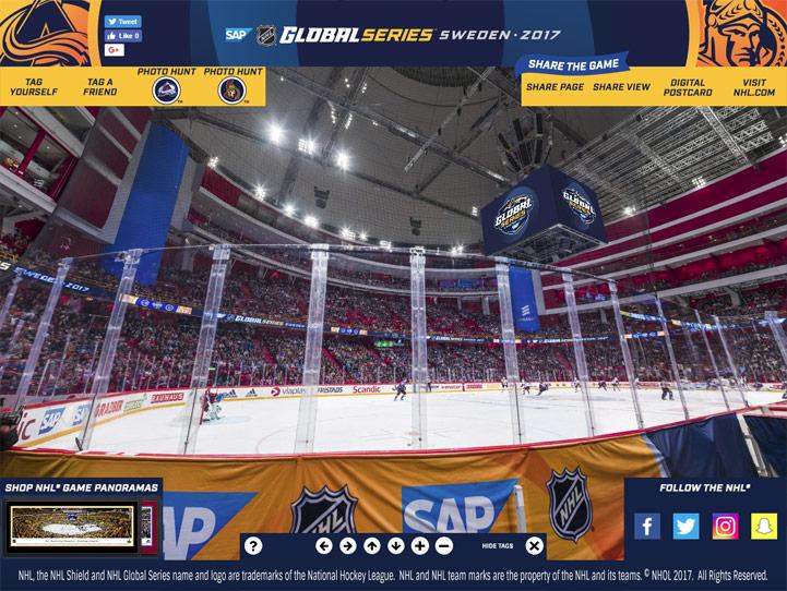 2017 NHL Global Series 360° Gigapixel Fan Photo