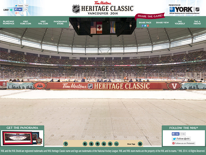 2014 NHL Heritage Classic 360° Gigapixel Fan Photo