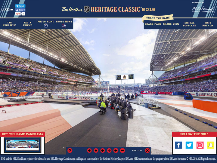 2016 NHL Heritage Classic 360° Gigapixel Fan Photo