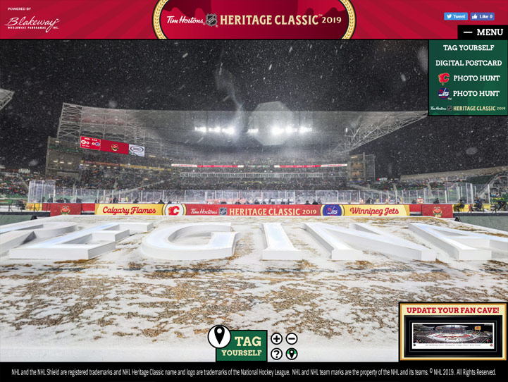 NHL Heritage Classic 360° Gigapixel Fan Photo