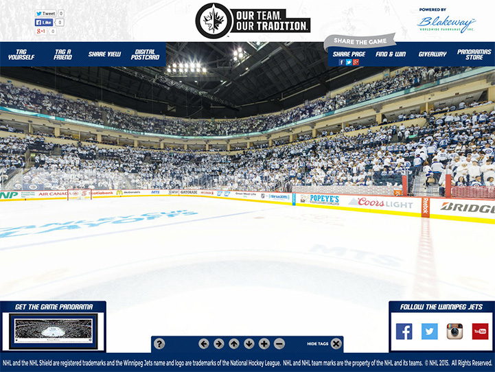 Winnipeg Jets 360° Gigapixel Fan Photo