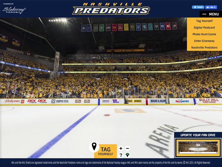 Nashville Predators 360° Gigapixel Fan Photo