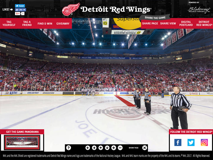 Detroit Red Wings 360° Gigapixel Fan Photo