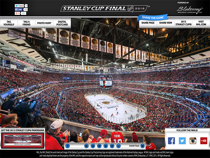 2015 Stanley Cup Final 360° Gigapixel Fan Photo