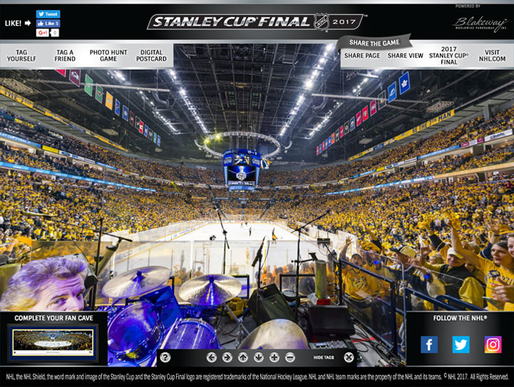 2017 Stanley Cup Final 360° Gigapixel Fan Photo