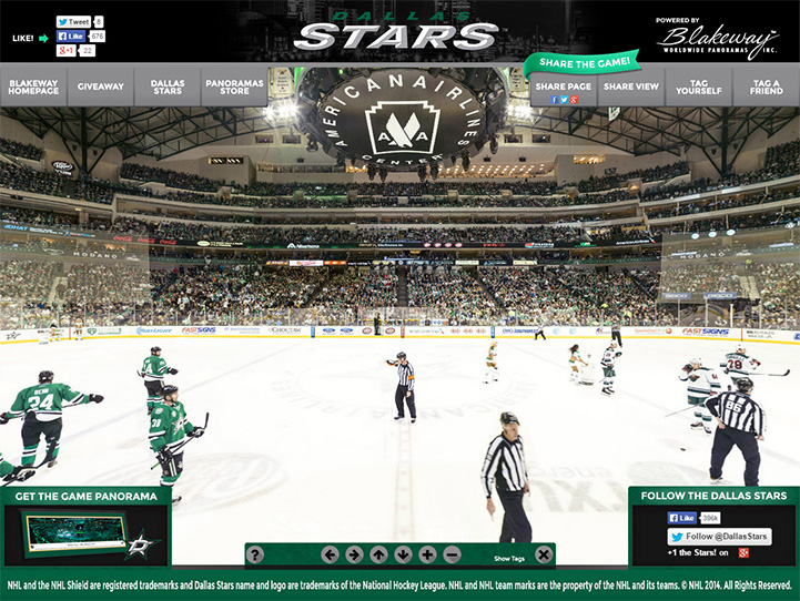 Dallas Stars 360° Gigapixel Fan Photo