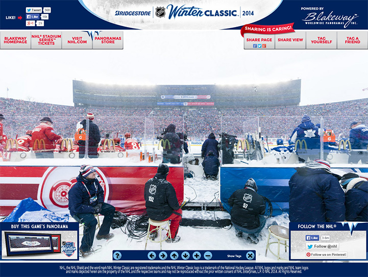 2014 NHL Winter Classic 360° Gigapixel Fan Photo