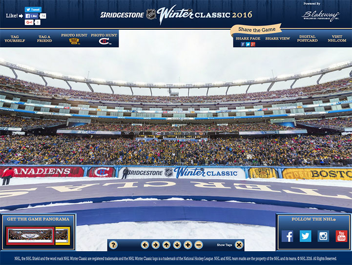 2016 NHL Winter Classic 360° Gigapixel Fan Photo