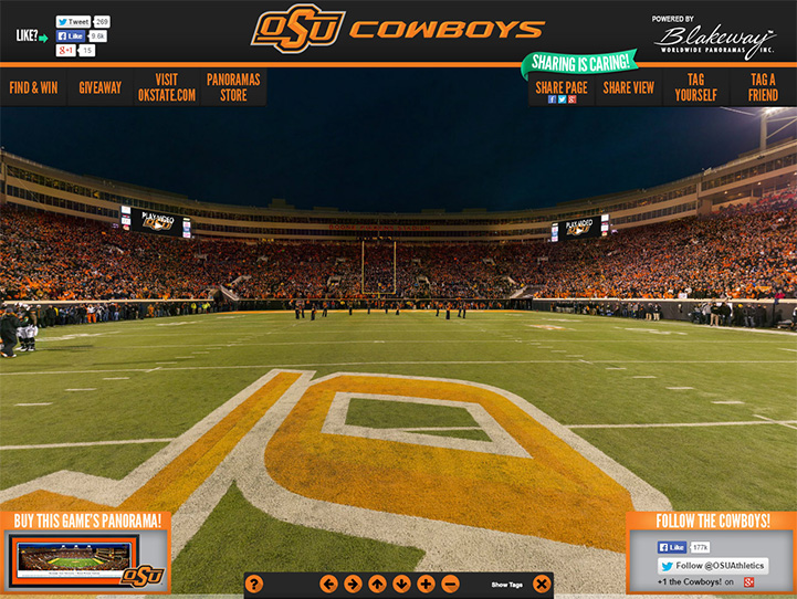 Oklahoma State Cowboys 360° Gigapixel Fan Photo