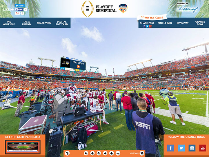 2015 Orange Bowl 360° Gigapixel Fan Photo
