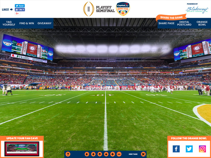2018 Orange Bowl 360° Gigapixel Fan Photo