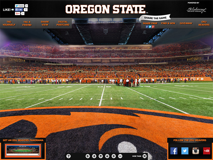 Oregon State Beavers 360° Gigapixel Fan Photo
