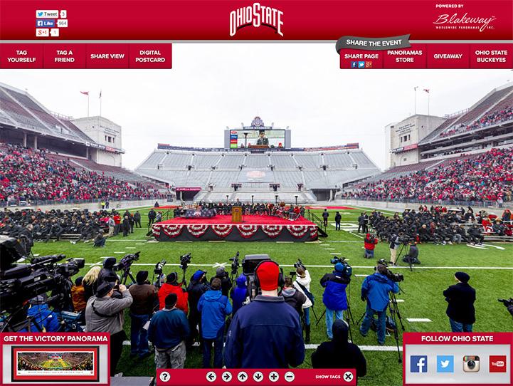 Ohio State Buckeyes 360° Gigapixel Fan Photo