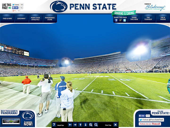 Penn State Nittany Lions 360° Gigapixel Fan Photo