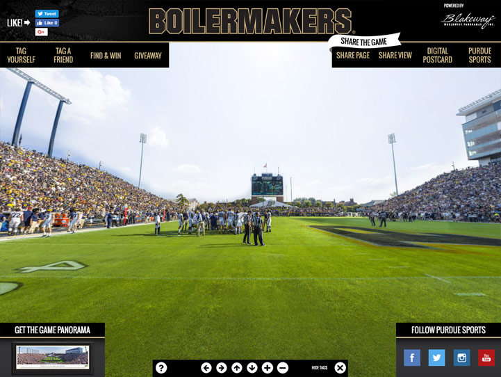 Purdue Boilermakers 360° Gigapixel Fan Photo