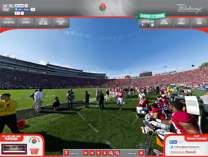 2013 Rose Bowl 360° Gigapixel Fan Photo