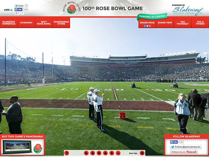 2014 Rose Bowl 360° Gigapixel Fan Photo
