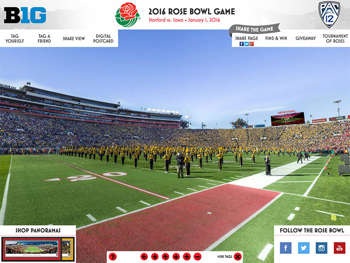 2016 Rose Bowl 360° Gigapixel Fan Photo