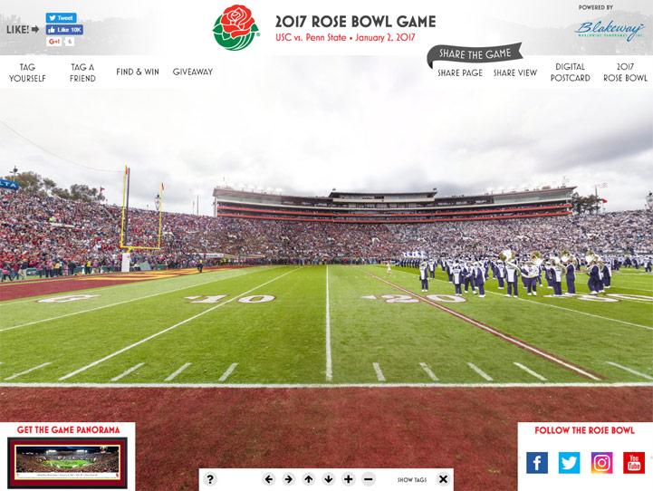 2017 Rose Bowl 360° Gigapixel Fan Photo