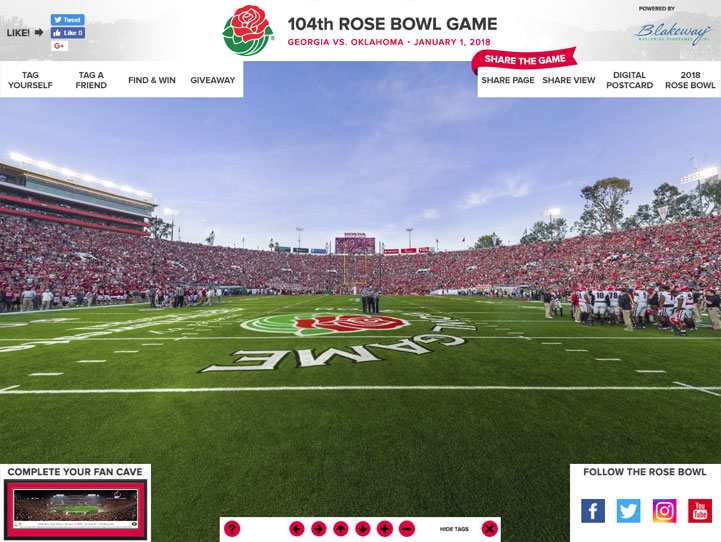 2018 Rose Bowl 360° Gigapixel Fan Photo