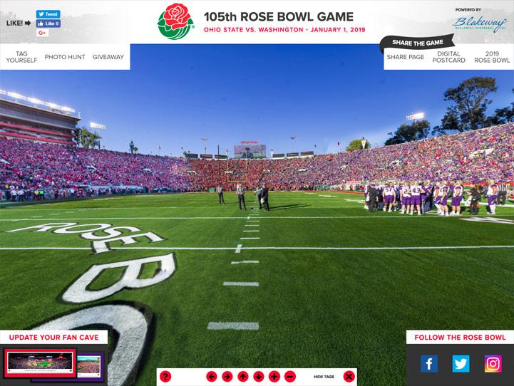 2019 Rose Bowl 360 Gigapixel Fan Photo