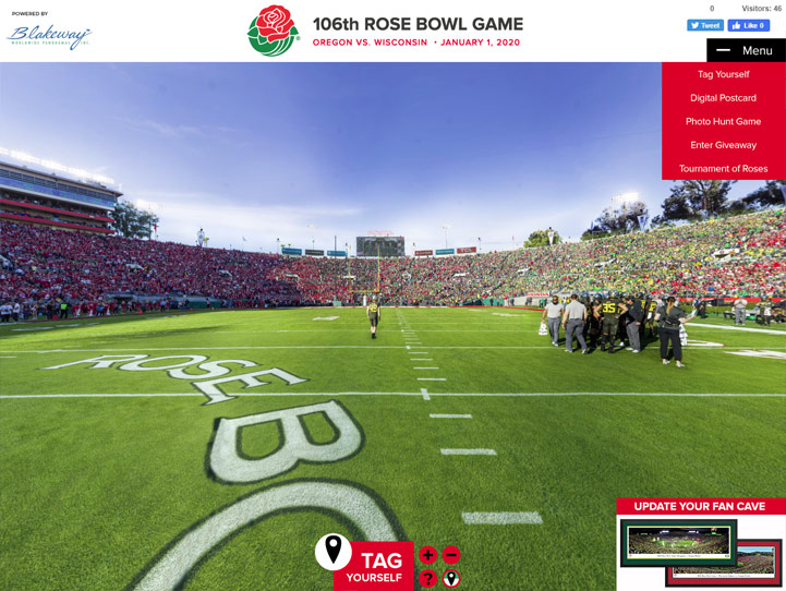2020 Rose Bowl 360° Gigapixel Fan Photo