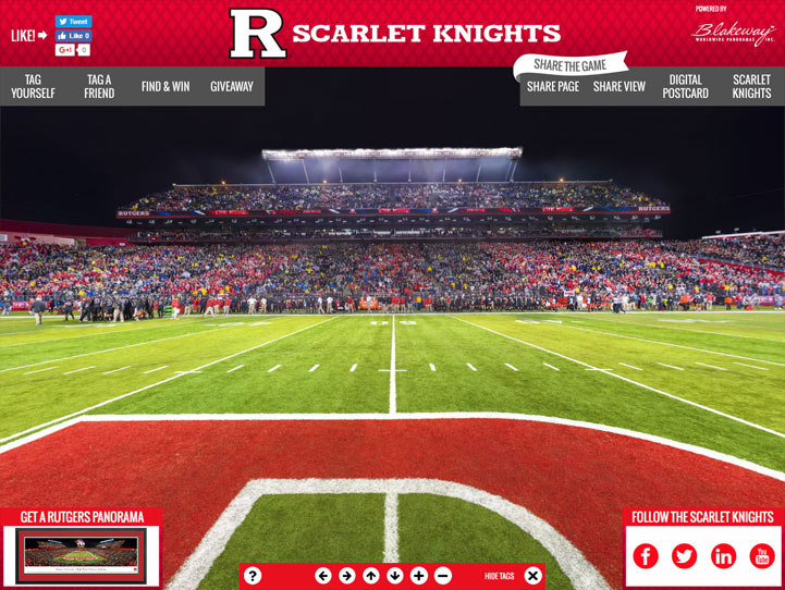 Rutgers Scarlet Knights 360° Gigapixel Fan Photo