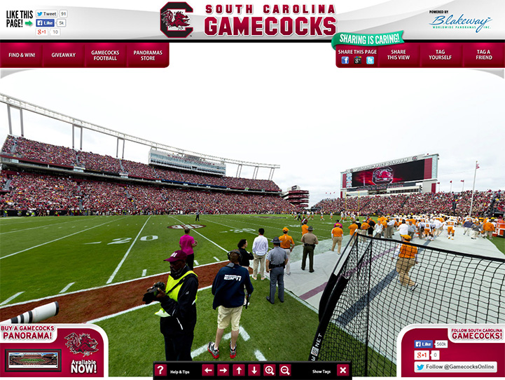 South Carolina Gamecocks 360° Gigapixel Fan Photo