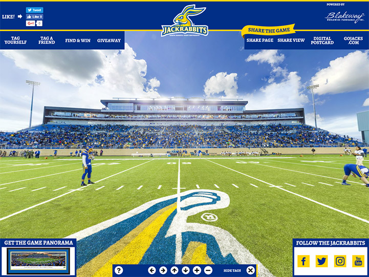 South Dakota State Jackrabbits 360° Gigapixel Fan Photo