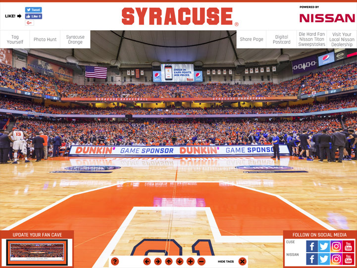 Syracuse Orange 360 Gigapixel Fan Photo