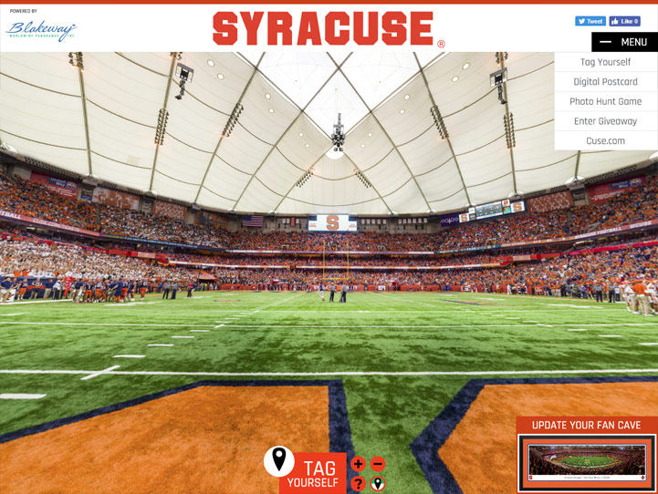 Syracuse Orange Football 360 Gigapixel Fan Photo