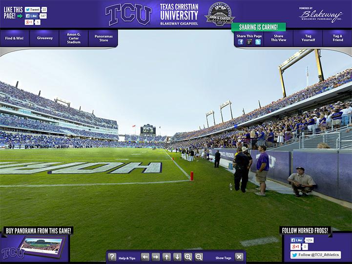 TCU Horned Frogs 360° Gigapixel Fan Photo