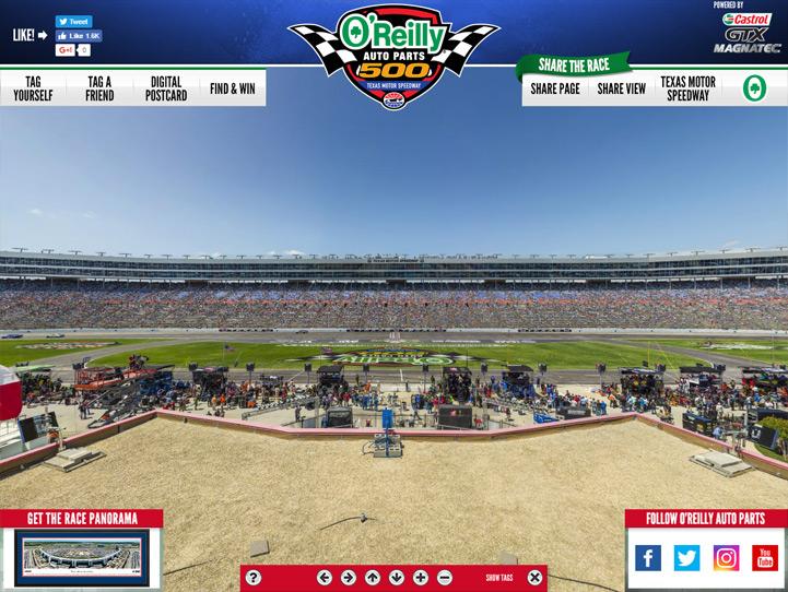 Texas Motor Speedway 360° Gigapixel Fan Photo